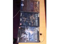 call of duty,battlefield, medal of honor and crysis pc games