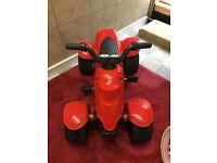 Red pedal quad