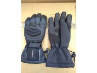 Winter Motorcycle Gloves - Infinity Black Leather and Textile