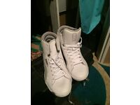 White Puma trainers size 6