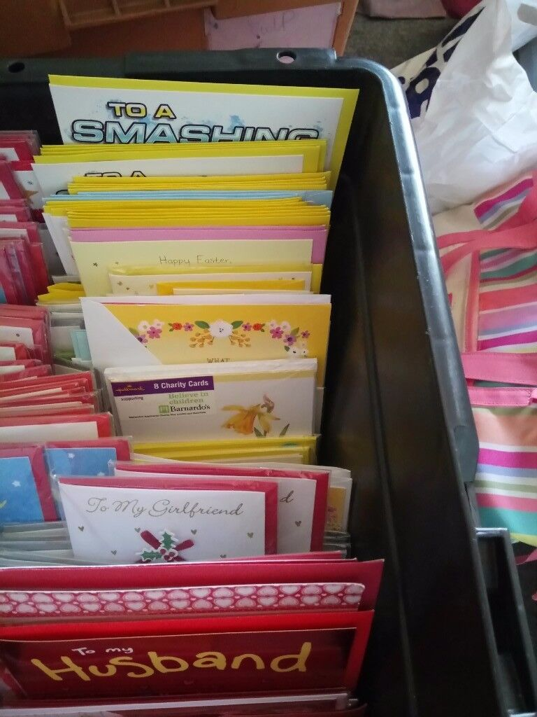 Job lot greetings cards 1100+ Hallmark, Ling, Tate, Carleton etc