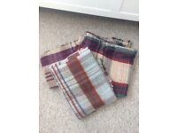 7 assorted wool blankets/throws