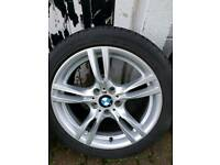 Genuine Bmw msport 18 inch 400m style alloy wheels