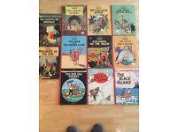 11 Tintin books. Methuen hardback. Some are 1st editions