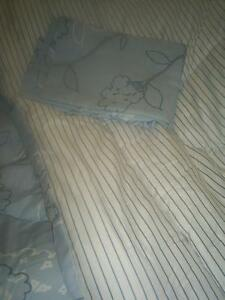 3/4 NEW comforter, bed skirt, pillow shams