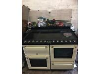 Belling range cooker ceramic halogen electric ovens 110cm cream