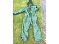 Men's large all in one fishing waterproof suit