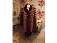 Real fur coat mink