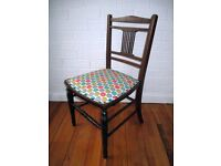 Little antique chair - newly upholstered