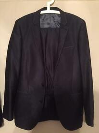 Dark blue suit