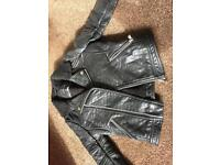 Infant girls next leather jacket coat in vgc condition age 3 Years look £20