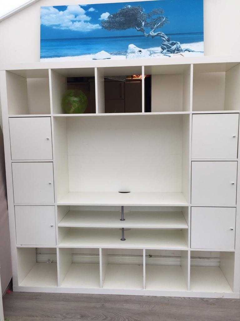 ikea expedit tv and storage unit now sold in bury manchester gumtree. Black Bedroom Furniture Sets. Home Design Ideas