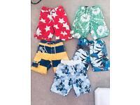 5 Pairs of boys swimming shorts