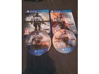 Sniper ghost warrior3 and battlefield 1 ps4