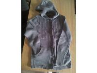 women grey cardigan, size 12, Papaya