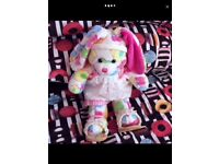 TWO BUILD A BEAR BUNNIES WITH OUTFITS AND ACCESSORIES