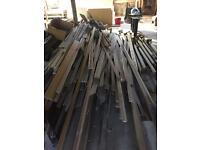 Job lot of wood decorative mouldings