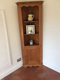 Antique pine stained corner unit
