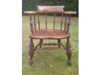 Antique Captain/Smokers Bow Windsor Chair, Soham near Ely