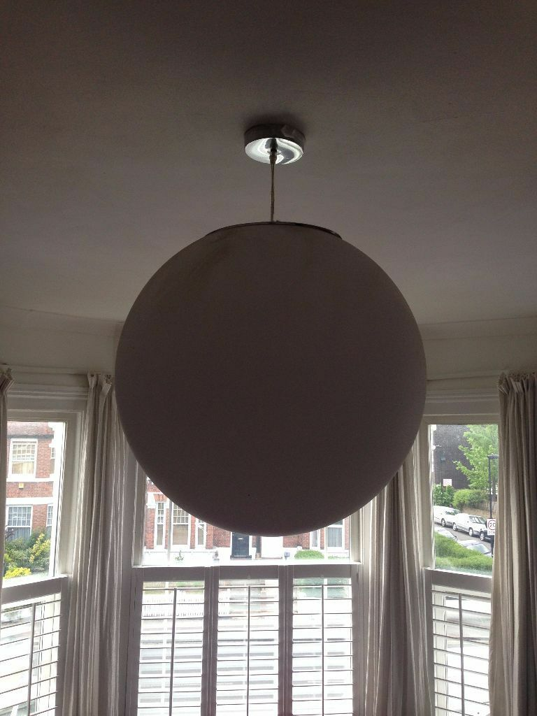Large White Circle Light Fitting Globe Sphere