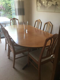 Parker Retro Solid Wood Rosewood Oval Extendable Table 6 Chairs (2 Carver) Excellent Condition