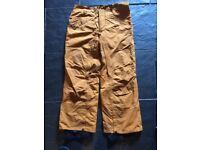 Vans mustard ski/snowboarding size large trousers