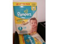 3 Jumbo packs Pampers premium protect nappies size 2