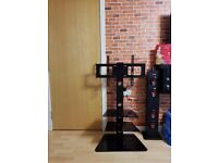 Cantilever Glass TV Stand with Swivel- Almost New £40