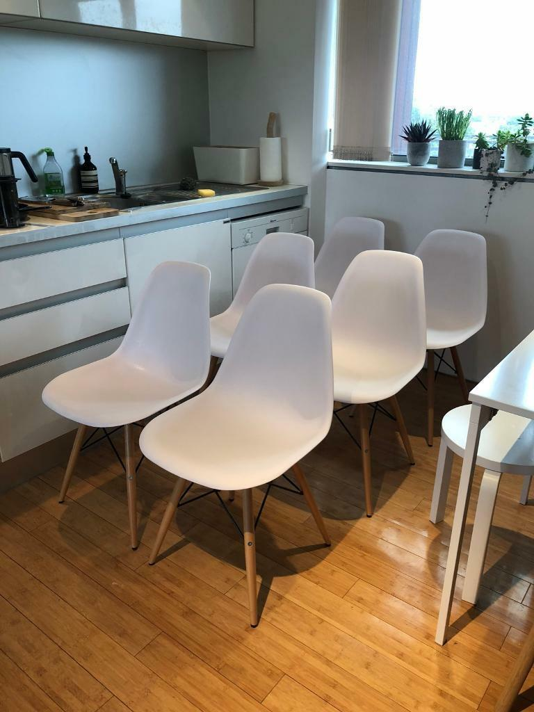 Pleasing Two 2 Replica Vitra Eames Dsw Chairs Light Maple Leg White In Hoxton London Gumtree Pdpeps Interior Chair Design Pdpepsorg