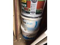 Free paint, tile adhesive, Fence paint 2 x old planners