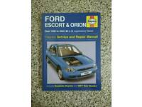 Ford Escort - Orion. Haynes manual. DIESEL.