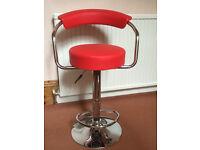 Red Bar Stool/Guitar Music Chair