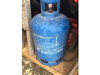 2 half full butane gas bottles for sale £20 for both