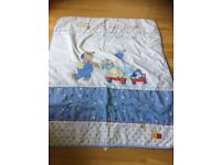 NEXT cot coverlet for baby boy