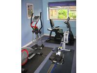 Kettler CrossTrainer and Life fitness exercise bike
