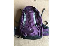 Vango Freedom 60L Rucksack Backpack Travel Waterproof Cover Adjustable Straps Purple Hiking Bag