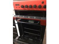 Red baumatic 50cm gas cooker grill & oven good condition with guarantee bargain