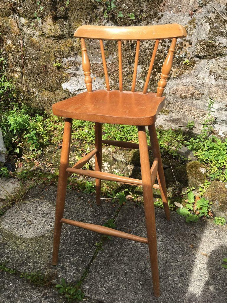 Wooden Ercol style stool