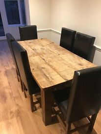 Dining table , will sell with or without chairs