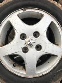 Peugeot 207 Alloy + Part Warn Tyre X4 £70
