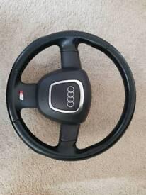 Audi a3 sline steering wheel including air bag