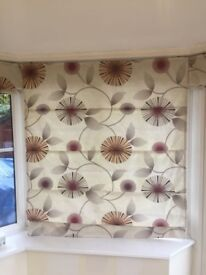 5 x Patterned Conservatory Blinds