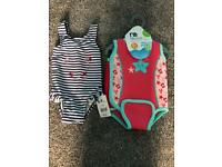 *Brand New With Tags * Baby Girls Swimsuit and Swim Jacket from Mothercare