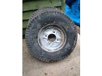 Trailer Wheels X2 - 8 inch with tyres
