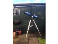 Skywatcher Explorer 130m Newtonian Reflector Telescope & Tripod. Excellent condition.