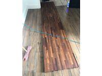 Wooden work top 3m length/620mm wide/40mm deep