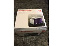 Brand new Morphy Richards 4 slice toaster in plum