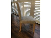 Ikea Henriksdal Dining Chair With Faux Suede Beige Cover