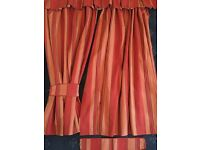 Curtains - Linen Stripe with tie backs and pelmet