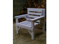 Heavy Duty Wooden Garden or Patio Chair